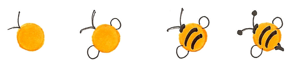 Simple bee drawing - photo#18
